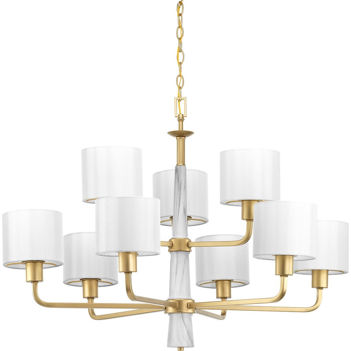 Jancis 9 Light Shaded Tiered Chandelier Reviews Joss Main