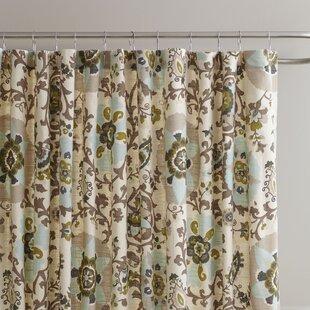 Best Grady Cotton Shower Curtain ByCharlton Home