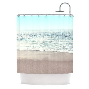 The Sea by Monika Strigel Coastal Single Shower Curtain