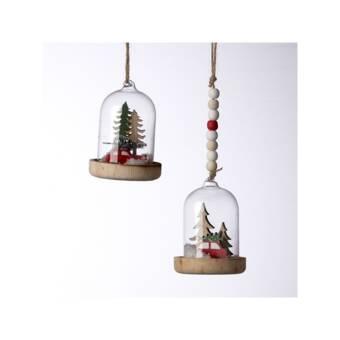The Holiday Aisle 2 Piece Hedgehog And Moose On Wreath Hanging Figurine Ornament Set Wayfair