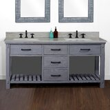 Burntwood 72 Rustic Double Batroom Vanity by Foundry Select