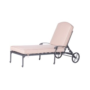 Fleur De Lis Living Bean Single Chaise Lounge with Cushion