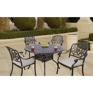Darby Home Co Laszlo 5 Piece Dining Set with Cushions