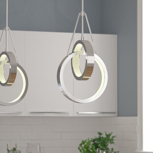 Corinna 2 Ring 2-Light LED Chandelier by Orren Ellis