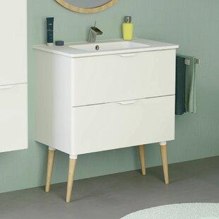 Mckee Modern 32 Wall-Mounted Single Bathroom Vanity Set