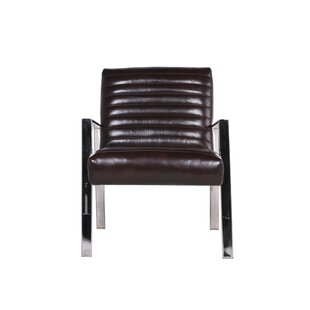 17 Stories Boville Leather Armchair