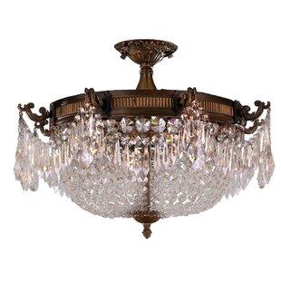 Astoria Grand Reimer Traditional Crystal 4-Light Semi Flush Mount