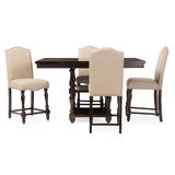 Manan Baxton Studio 5 Piece Counter Height Dining Set by Charlton Home®