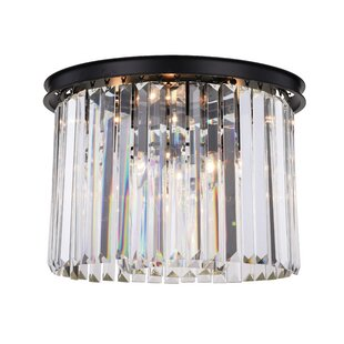Everly Quinn Lavinia 6-Light Flush Mount
