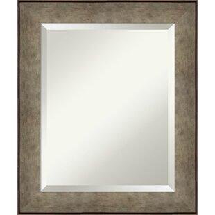 Gracie Oaks Tavares Pounded Metal Decorative Accent Mirror