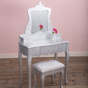 Isai Dressing Table Set With Mirror By Willa Arlo Interiors