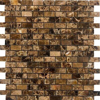 063 x 125 Marble Mosaic Tile in Emperador Dark Epoch