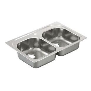 Moen 2000 Series Double Bowl Drop-In Kitchen Sink