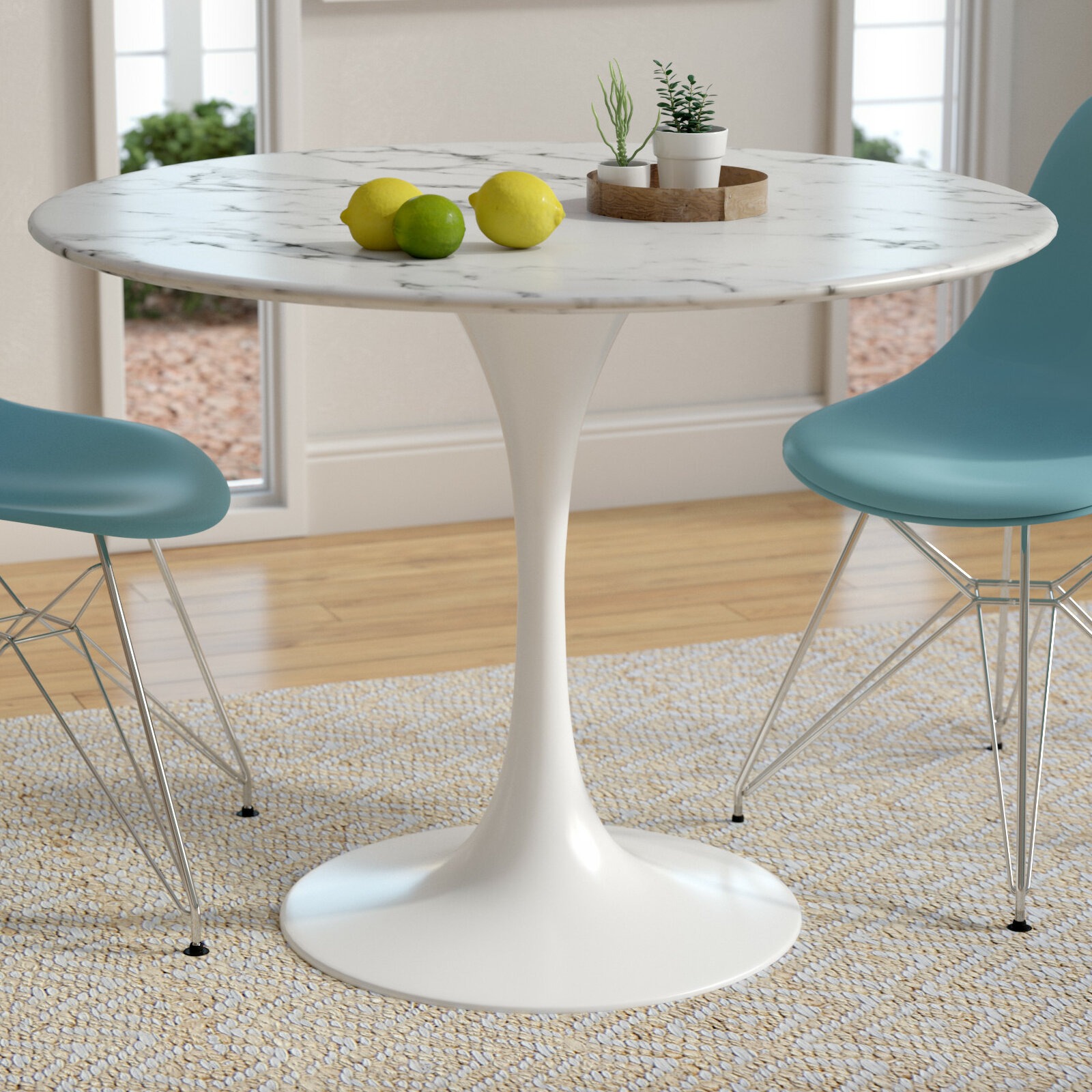 Langley street julien artificial marble dining table reviews wayfair ca