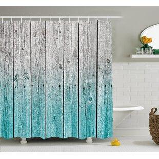 Charmant Rosy Digital Wood Panels Single Shower Curtain