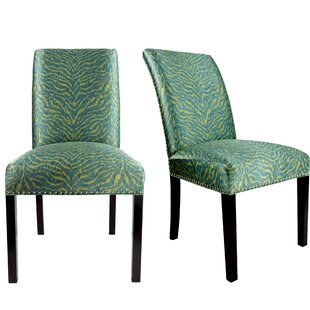 Everly Quinn Sayli Upholstered Contemporary Parsons Chair (Set of 2)