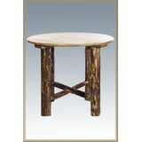 Tustin Counter Height Pine Solid Wood Dining Table by Loon Peak®