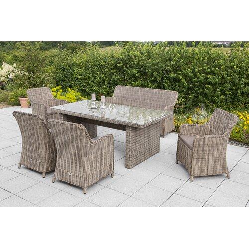 7-Sitzer Lounge-Set mit Polster Garten Living | Garten > Gartenmöbel > Loungemöbel-Garten | Garten Living