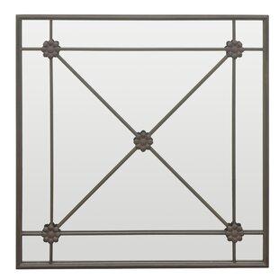 Three Hands Co. Cross Bar Detailing Metal Wall Mirror