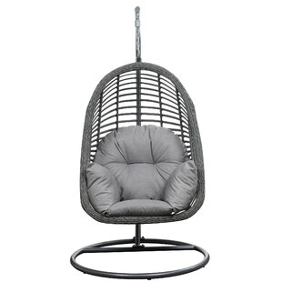 Mistana Pothier Hanging Basket Spuncrylic Swing Chair with Stand