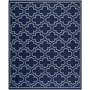 Searching for Dhurries Wool Navy/Ivory Area Rug By Safavieh