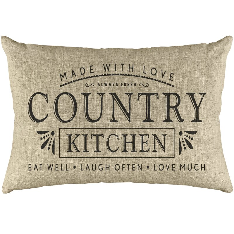 Ophelia Co Rune Country Kitchen Linen Lumbar Pillow Reviews Wayfair