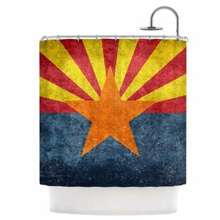 Arizona State Flag Retro Style Single Shower Curtain