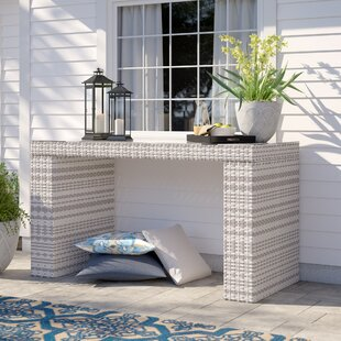 Falmouth Glass Bar Table by Sol 72 Outdoor