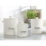 Farmhouse Inspired 3 Piece Kitchen Canister Set