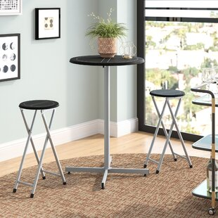 Palma 3 Piece 38 Pub Table & Stool Set Symple Stuff