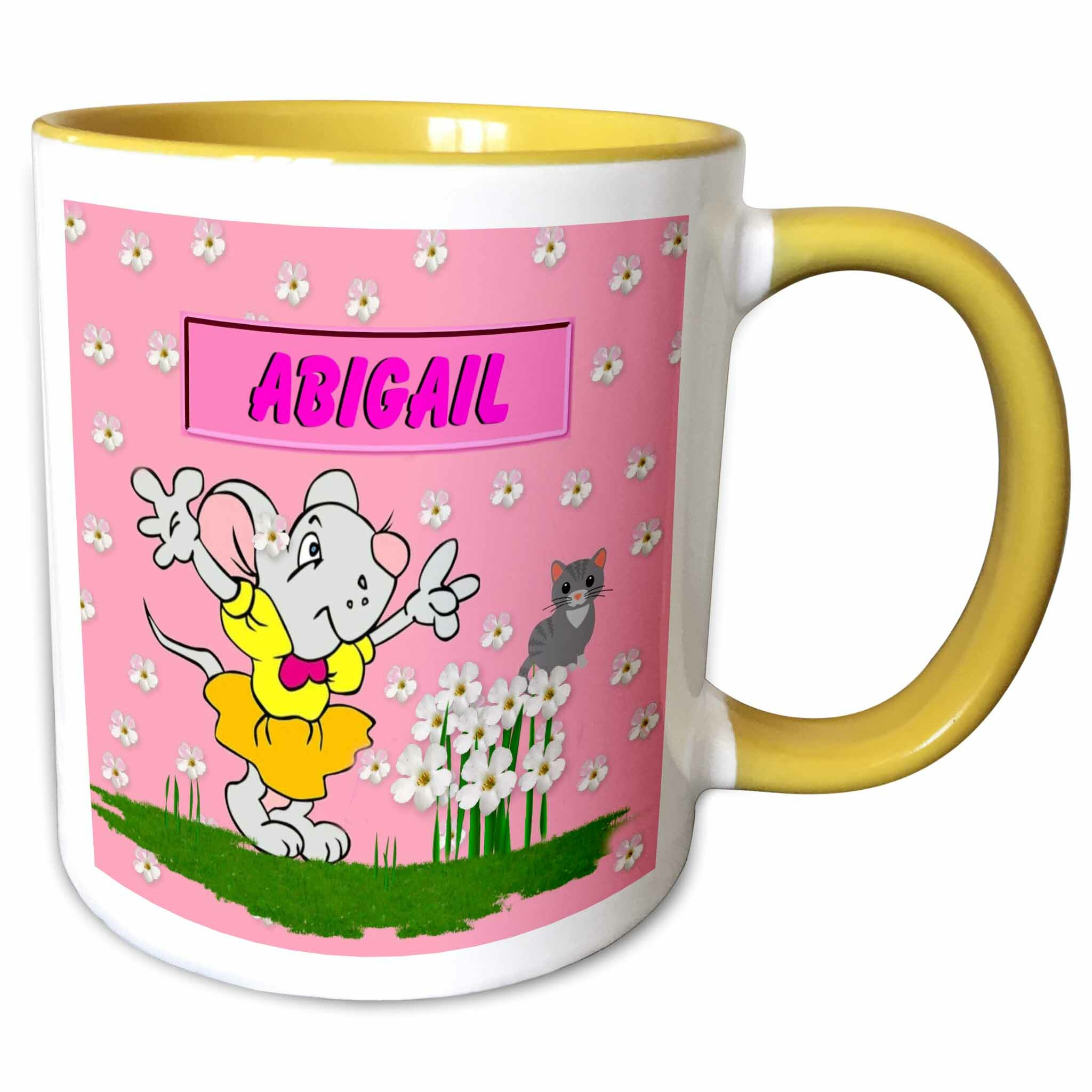 Symple Stuff Kiester Abigail Decorative Name Specific Childrens Art Coffee Mug Wayfair