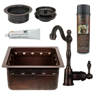 Gourmet 16 X 14 Single Undermount Bar Sink With Faucet By Premier