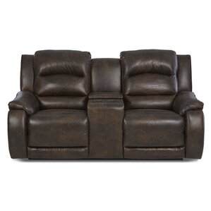 Baton Rouge Reclining Sofa with Headrest and Lumbar Support by Darby Home Co