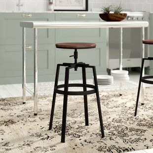 Imogen Height Adjustable Swivel Bar Stool (Set Of 2) By Williston Forge