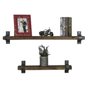 Preetesh Industrial Grace 2 Piece Floating Shelf Set