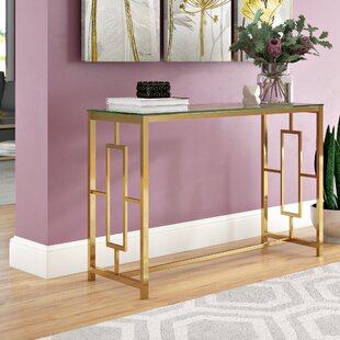 Compare prices Gannon Console Table By Ivy Bronx