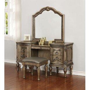 Astoria Grand Coalson Vanity Set with Mirror