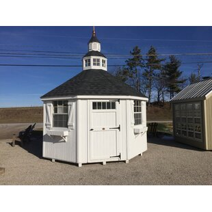 Colonial 12 Ft. W X 12 Ft. D Garden Shed Greenhouse By Little Cottage Company