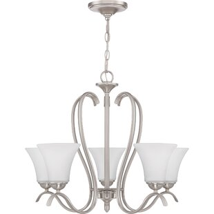 Newfane 5-Light Shaded Chandelier by Charlton Home