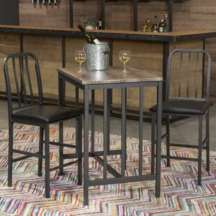 Villalba 3 Piece Pub Table Set
