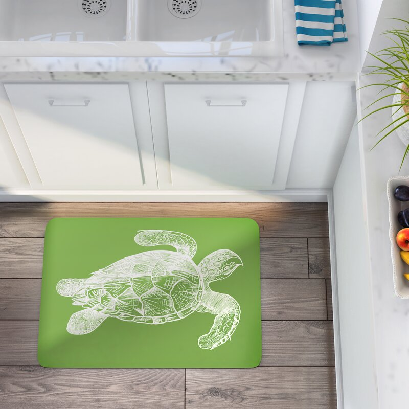 Beau Briarcliff Lime Turtle Kitchen Mat