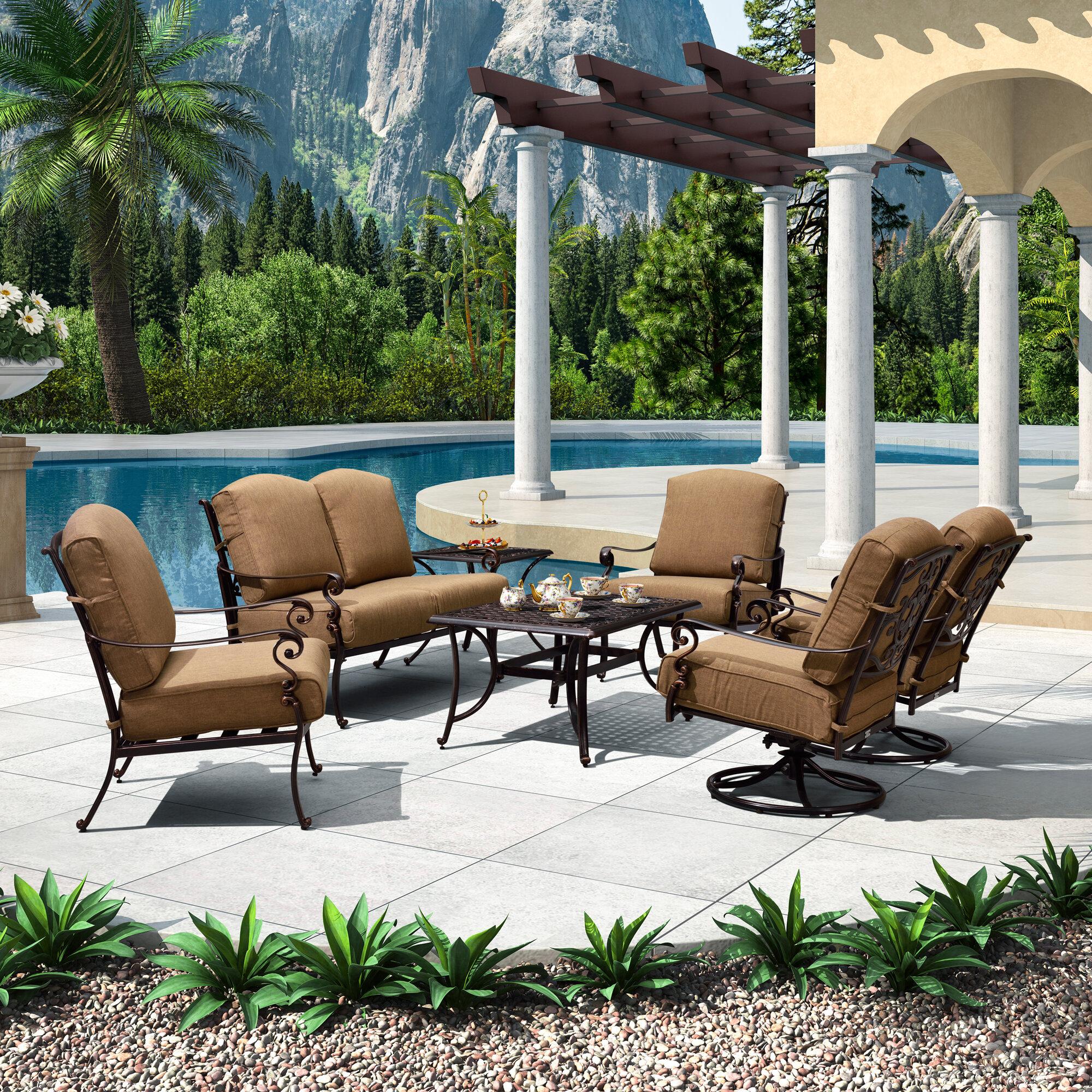 Astoria Grand Vanek 7 Piece Sofa Seating Group With Cushions Wayfair