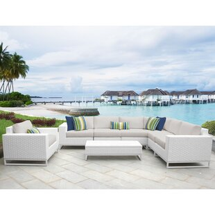 Miami 8 Piece Sectional Seating Group with Cushions