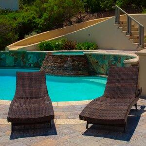 Gadbois Adjustable Chaise Lounge (Set of 2)