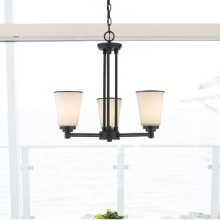 Hwang 3-Light Shaded Chandelier by Bloomsbury Market