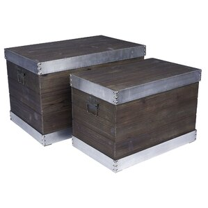 2 piece decorative storage box set