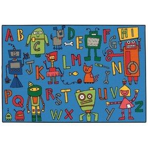 Reading Robots Kids Rug