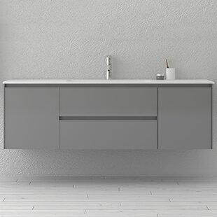 Bakonyi 63 Single Wall-Mounted Single Bathroom Vanity Set By Orren Ellis