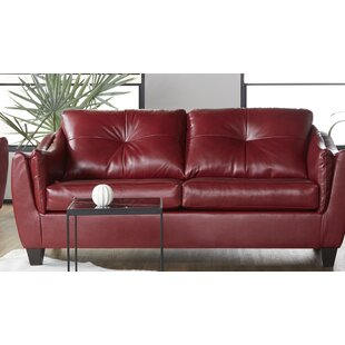 Manatuto Leather Sofa by Ebern Designs Comparison