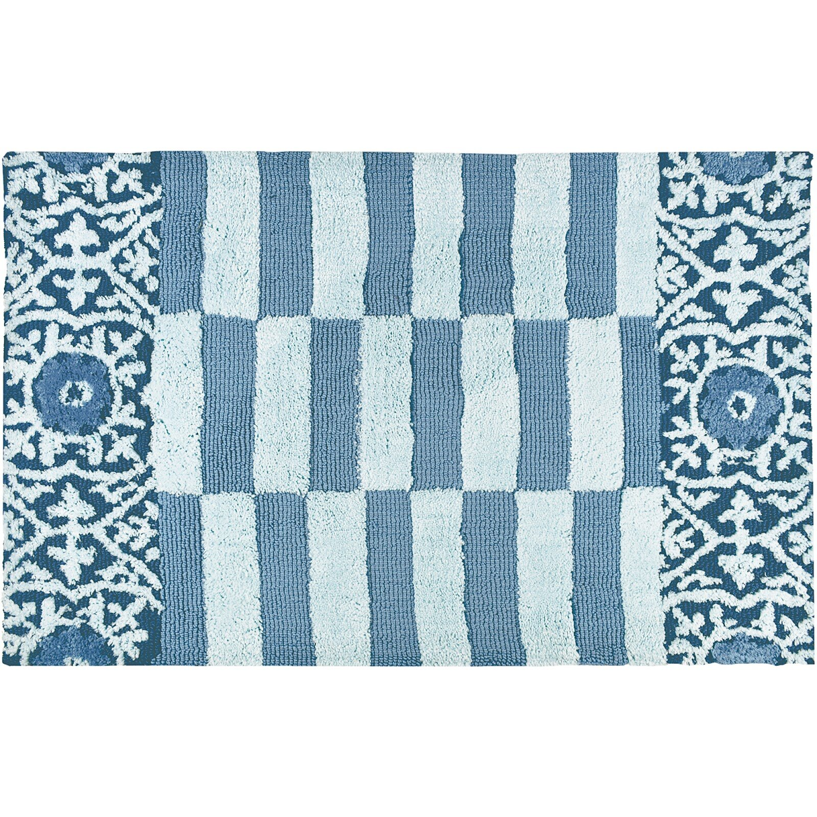Wrought Studio Lennie Subway Tile Blue Area Rug Wayfair